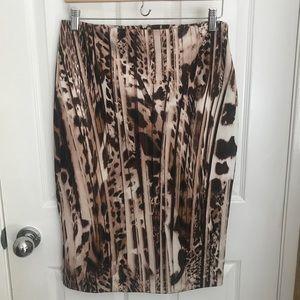 New York and Co. animal print skirt
